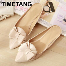 TIMETANG New fashion bow point toe  womens Flats summer shoes