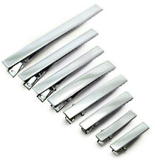 45-75mm New Arrival Silver Metal Single Prong Alligator Hair Clips Barrette Lot
