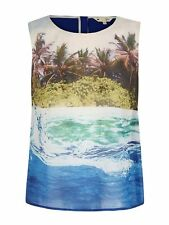 Yumi Underwater Print Sleeveless Top - RRP£45.00 - Sizes 10 -14