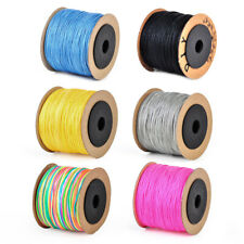 0.8mm 100M Nylon Chinese Knot Cord Beading String Thread Rattail Macrame Braided