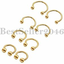 2pcs Stainless Steel Horseshoe Bar Navel Eyebrow Nose Piercing Septum Lip Ring