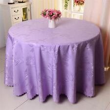 Purple Color Round Shape Hotel Wedding Party Decor Table Cover Cloth