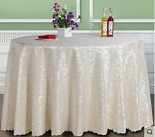 White Color Polyester Material Round Shape Table Cloth For Party Use