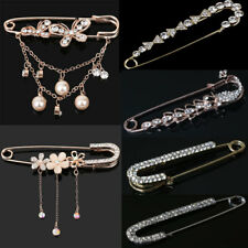 Women Fashion Crystal Peacock Brooch Pin Party Jewelry Brooch Large Safety Pin