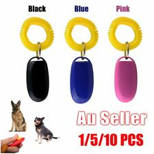 Dog Pet Click Clicker Training Obedience Agility Trainer Aid Wrist Strap AUR5