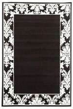 Damask Border Pattern Rug Black White Modern Rugs Floor Carpet Home