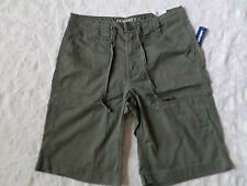 OLD NAVY SHORTS WITH DRAW STRINGS MENS SIZE 28 CLASSIC LENGTH ZIP FLY GREEN NWT