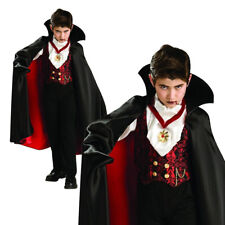Boys Vampire Costume With Cape Halloween Fancy Dress Party Kids Outfit Dracula