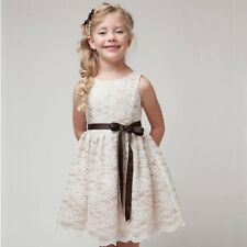 Summer Children Clothes Beautiful Lace White Baby Girls Dress for Age 2-12