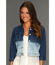 Levi's Cropped Trucker Denim, Blue Ombre/Dip Dye Wash Jacket  – MSRP $68