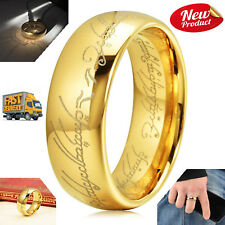 Three Keys The One Ring Lord Of The Rings Style Tungsten Ring Gold Color Ring Lo