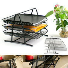 Trays Holder A4 Tier Office Filing Paper Wire Mesh Storage Organiser