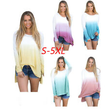 Fashion Women Ladies Autumn Loose Casual Cotton Long Sleeve Shirt Tops Blouse