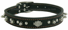 """Leather Harley Davidson Dog Collar With Spikes and Studs Multiple sizes 10-20"""""""