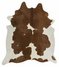 Exquisite Natural Cow Hide Brown White Cowhide Floor Carpet Home