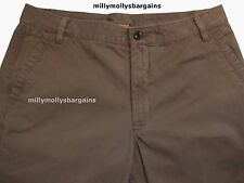 New Mens Marks & Spencer Brown Trousers Size 36 32 Leg 33 31 29