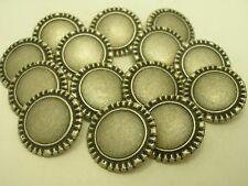 New Lots of Italian Silver Metal Buttons sizes 11/16'' 7/8'' 1 1/16''  #SK
