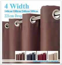 Single Panel Eyelet Ready Made 100% BLOCKOUT Curtain - 4 Color to choose