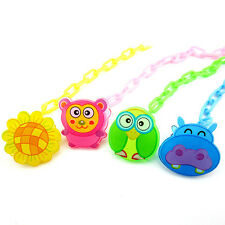 Cartoon Baby Dummy Pacifier Soother Nipple Chain Clip Buckle Dummy Holder Set