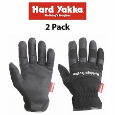 Mens Hard Yakka Gloves *2 Pack* Armorskin Rigger Synthetic Leather Work Y26079