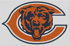 Cross stitch chart, Chicago, Bears, NFL, American, Football, USA.