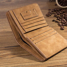 Men PU Leather ID credit Card holder Clutch Bifold Coin Purse Wallet Pockets C