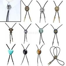Indian Rodeo Bolo Tie Leather Bola Ties Dance Western Cowboy Necktie Necklace