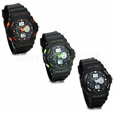 Alarm Date Multifunction Mens Sport Analog Electronic Quartz Boys Wrist Watch