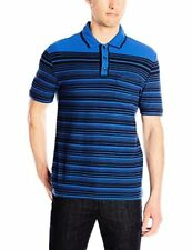 Original Penguin Men's Engineered Two-Color Stripe Earl Polo Shirt