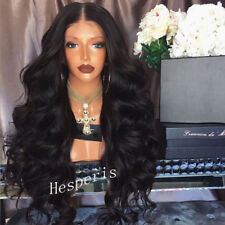 Brazilian Body Wave Full Lace Wig Glueless Lace Front Virgin Human Hair Wavy Wig