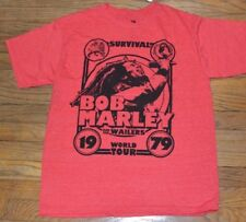 Bob Marley & Wailers World Tour Zion Rootswear Licensed T-Shirt Adult Mens Tee