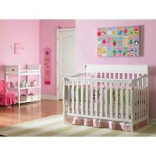 Classic Baby Crib Nursery Furniture Graco 4in1 Convertible Fixed-Side