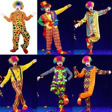 Halloween Masquerade Costume Party Clown Circus Adult Clothes Suit Fancy Dress