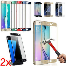 2x Temper Glass Full Cover Curved Screen Protector For Samsung Galaxy S6 S7 Edge