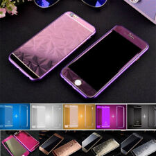 Front +Back 3D Diamond Tempered Glass Metal Bumper Case For iPhone 5s 6 6s plus
