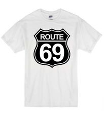 Route 69 Funny Rude Offensive Highway Sex Humour T Shirt T-Shirt Youth Unisex