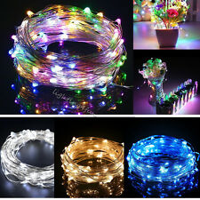 2-5 Meter Battery Operated Copper Mini Wire String Fairy Xmas Party Lights White