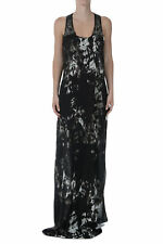 ROBERTO CAVALLI New Woman Embroidery sleeveless Silk Long Dress made in Italy