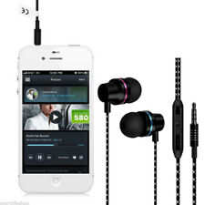 In-Ear Wired Earphone Earbuds Stereo Headphones w/ Mic For Iphone All Cellphone