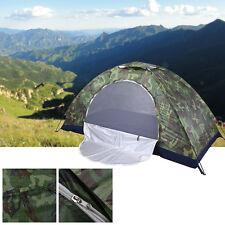Outdoor Camping 1/ 2 Person Family Tent Waterproof Camouflage Hiking Beach Tents
