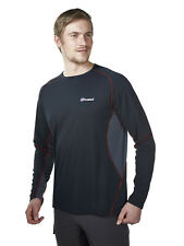Berghaus Long Sleeve Crew Neck Technical T-Shirt 20830/N42 Black/Carbon NEW