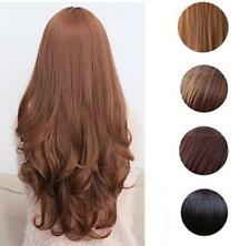 Women Long Curly Wavy Full Wig Heat Resistant Hair Cosplay Party Lolita Popular