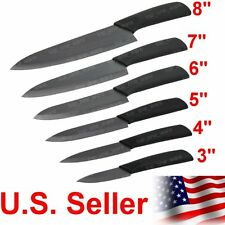 """Toponeware Choice of 3"""" 4"""" 5"""" 6"""" 7"""" 8"""" inch Kitchen Cutlery Ceramic Knives Black"""