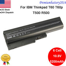 6/9 Cell Battery for IBM Thinkpad T60 T61 T61P R60 SL500 FRU 42T4504 92P1131 USA