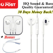 EarPods Earphones Earbuds Headphones 3.5mm Splitter Apple iPhone 5 6 7 S iPad
