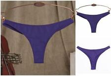 New!!! Cotton Womens Sexy Contract One-piece Low rise Solid Thongs Panties S M L