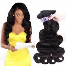 Non Remy Brazilian Hair Extensions Body Wave Hair Weave Virgin Hair Extensions
