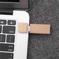 USB2.0 Flash Drive External Storage Disk Pendrives for Notebook Maple Wooden
