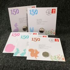 Beatrix Potter Coin Collection 50p Coins and Stamp Presentation Packs