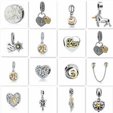 Hot 1pcs  European Silver CZ Charm Beads Fit  925 Necklace Bracelet Chain DIY